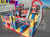 Giant car theme inflatable slide inflatable combo slide jumping castle for advertising