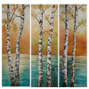 Latest Handmade Tree Palm Painting on Canvas Group Painting with 3 Pieces for Wholesale (LH-062000)