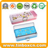 Double-Deck Stationery Metal Tin Box with Latch for Pencil Case