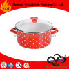 Enamel Casserole with Ceramic Handle with Enamel Cover