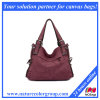Red Canvas Handbag Shoulder Bag Motorcycle Bag for Lady