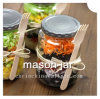 Glass Salad Bottle Mason Jar with Lid