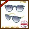 F7592 Retro Vintage Imitation Sunglasses with Wooden Bamboo Temple