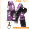 Custom Plastic Buckle Flat Polyester Lanyard with Metal Hook (YB-LY-33)