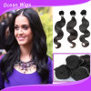 100% Human Virgin Indian Remy Hair Body Wave Hair Weft (W-070)