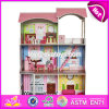 Best Preschool Pretend Play Large Wooden Kids Doll House Set W06A248