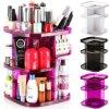 Turn Spin Cosmetic Organizer Makeup Box Case Holder Spinning Rack Shelf Rotating