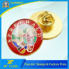 Customized Gold Plated Enamel Pin Badge Stamping Metal Art Craft Epoxy Embossed Modern Souvenir Accessories Emblem with Butterfly Clasp (BG45)
