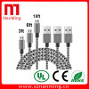 Nylon Braid Micro Charging Data Cable to USB Micro USB Cable
