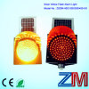 High Luminance Solar Yellow Flashing Traffic Warning Light