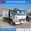 China Rear Loader HOWO 8cbm Capacity Compactor Garbage Trucks Promotional