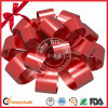 Glossy Lacquer Coated Red Poly Ribbon Bow for Wedding