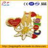 Customized Cheap Flower Shape Metal Badge
