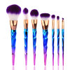 New Pattern 7 Makeup Brush Set Colorful Makeup Brush Gradient Color Conical Cosmetic Brush