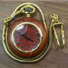 2017 New Analog Quartz Wooden Necklace Pendant Pocket Watch