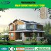 Light Steel Prefabricated/Prefab House with Big Glass Curtain Wall