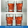 18 Ounce (500ml) Clear Glass Skull Face Drinking Mug Cup