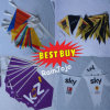 Cheap! ! ! Christmas Plastic Bunting String Flags, Printed Triangle Plastic String Flags