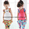 Cotton Sleeveless Girls' Colorful T-Shirt+Pants in Children Clothes