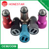 Safety Hammer Stainless Steel Material Dual USB Car Charger