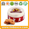 Metal Round Food Packaging Box Mrs Higgins Biscuit Cookies Tin