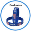 Custom Glow in The Dark Nigeria Silicone Debossed Wristband