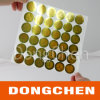 Gold Code Dotted Coin Holographic Sticker