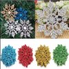 Christmas Snow Flakes White Snowflake Ornaments Holiday Christmas Tree Decortion Festival Party Home Decor