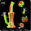 2018 New Colored Silicone Double-Filter Water Pipe for Unbreakable Glass Smoking