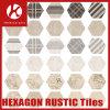 Art Deco Tiles Matt Surface Rustic Hexagon Brick Look Floor Tiles