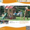 Kids Backyard Plastic Playground with Outlook Play Tower, Swing Sets and Slide