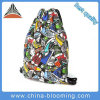 Polyester Mixed Color Leisure Lady Gymsack Backpack Drawstring Bag