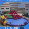 Inflatable Water Amusment Park Pool and Slide for Kids and Adults