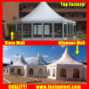 2018 Factory Solid Wall Hexagon Tent for Conference Diameter 12m 150 People Seater Guest