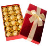 Low Wholesales Price Custom Red Rectangle Chocolate Box with Delicate Bow