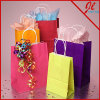 Bright Colored Matte White Shopping Bags Color Paper Bags