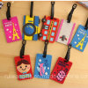 Cartoon PVC Rubber Luggage Tag for Travel Souvenir
