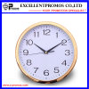 Gold Frame Logo Printing Round Plastic Wall Clock (Item12)
