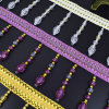Beads and Tassel Furnishing Bead Fringe Used for Lamp Curtain Accessories of Home Decoration