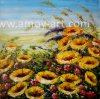 Heavy Oil Flower Oil Paintings Palette Knife Painting with Nice Texture for Home Decoration