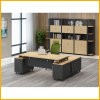 MDF Panel Board Material Office Desk with Side Drawers File Cabinet, for Laptop Computer