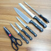 7PCS PP Handle Kitchen Chef Knife Set with Wooden Holder