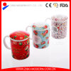 High Quality White Ceramic Coffee Mug with Print and Lid