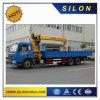 10 Ton Trucks Mounted Crane Hoist Telescopic Boom Silon Sq10sk3q