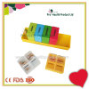 Colorful Weekly Square 28 Cases Plastic 7 Day Pill Box