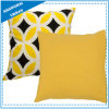 Bright Yellow Diamond Printed Polyester Throw Pillow