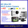 Ultra-Full HD4k Similar Gopro Hero 4 WiFi Waterproof 30m Digital G-Sensor WiFi Action Sport Camera (OX-H2)