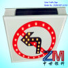 Factory Price Solar Powered Traffic Sign / Flashing Road Sign
