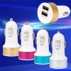 2 Ports Portable Travel USB 1A 2.1A Car Charger Adapter 12V-24V Input
