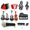 Cartoon Musical Instrument 4GB 8GB Gift Pen Drive Memory Stick